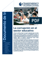 Transparency International 2007 Corrupcion en El Sector Educativo