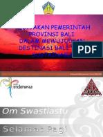 Kebijakan Pem Prov. Bali Dlm Mewujudkan Destinasi Bali Yg Sustainable