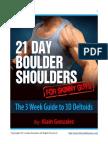 21 Day Boulder Shoulders