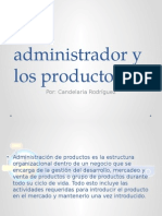 El Administrador y Los Productos