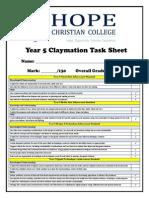 year 5 arts claymation task