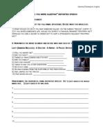Reported Speech Movie Worksheet