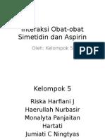 Interaksi Obat-obat Simetidin Dan Aspirin