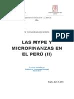 Las MYPE y Microfinanzas en Perú