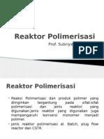 Reaktor Polimerisasi