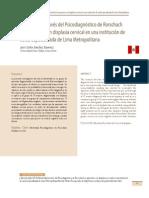 Afectividad a Través Del Psicodiagnóstico de Rorschach en Pacientes Con Displasia Cervical