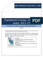 Equipment Leasing Market in India 2011 12 (1)