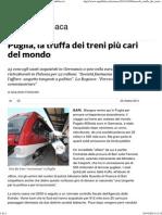 Puglia, La Truffa Dei Treni Più Cari Del Mondo - Repubblica.it