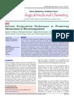 Emulsion Solvent Evaporation Microencapsulation Review