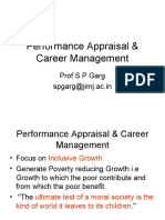 Management thoughts on performance appraisal and career management