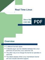 Real Time Linux Steve Matovski
