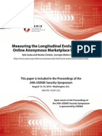 Evolution of the Online Anonymous Marketplace