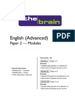 Brain HSC ENGLISH Advanced Modules Paper July 2014