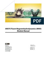ANSYS Fluent Magnetohydrodynamics (MHD) Module Manual