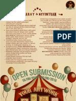 Formulir Pendaftaran Open Submission Pameran Dongkrak Seni UI 2015 - Fuad Muhammad Alhamid