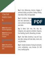 Excel Analytics QCFinance (Online and Onsite)