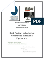 Mahathir Bin Mohammad as National Equivocator