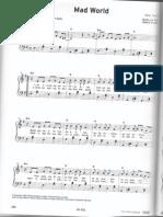 mad world - piano Sheet