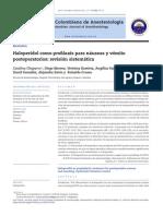 Haloperidol Como Profilaxis Para Náuseas y Vómito