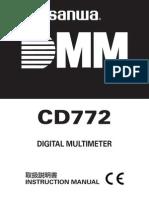 Sanwa CD772 True RMS  Instruction Manual