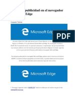 Bloquear Publicidad en El Navegador Microsoft Edge