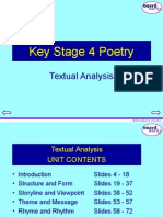 Poetry - Textual Analysis