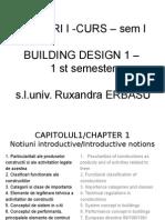 Cladiri I -Curs – Sem I