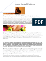 Alimentación Consciente, Slowfood Y Antistress
