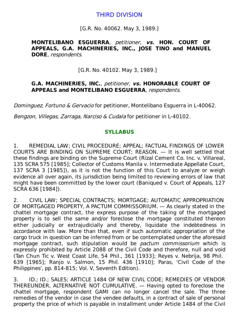 454 Civil Code: Contract of sale