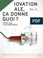 L'Innovation Sociale Ça Donne Quoi - Vol. 1 (2013)