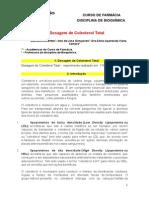 Relatório de Bioquímica Colesterol 17set