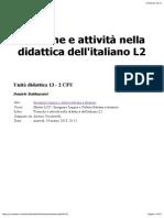 Tecniche e Attività Nella Didattica Dellitaliano L2