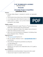 ITS SIP Competition Guidelines Anubhav-2015