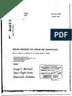 Titanium Welding Procedures