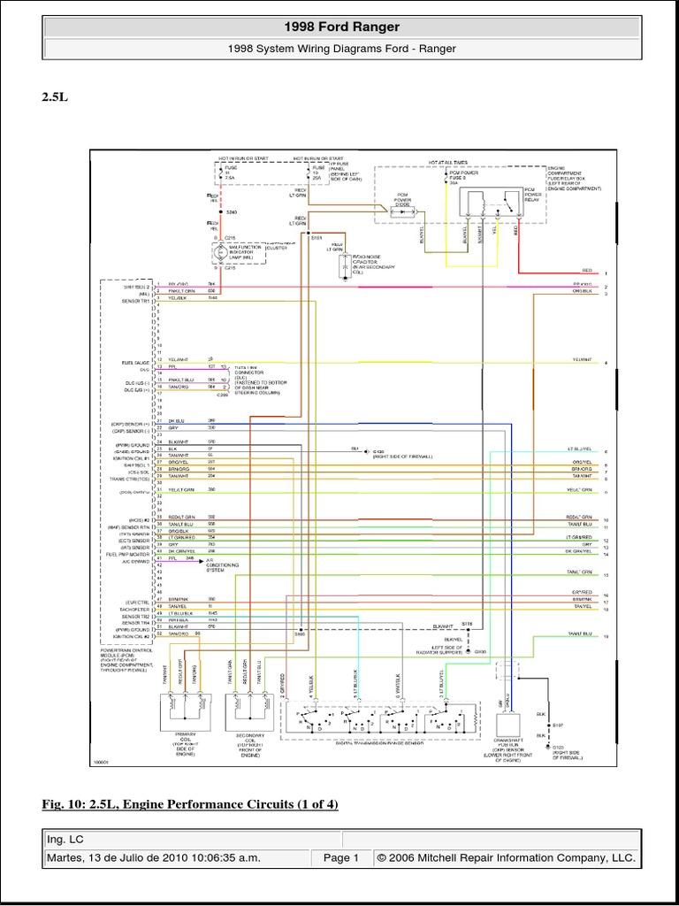 2010 ford ranger wiring diagram 03 ford v 1998 ranger 2 5l  8 bujias  ford motor company  ford v 1998 ranger 2 5l  8 bujias