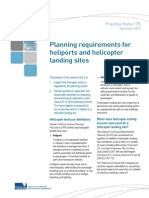 Planning Requirements for Heliports and Helicopter Landing Sites