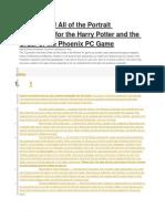 Harry Potter 5 Portrait Solutions