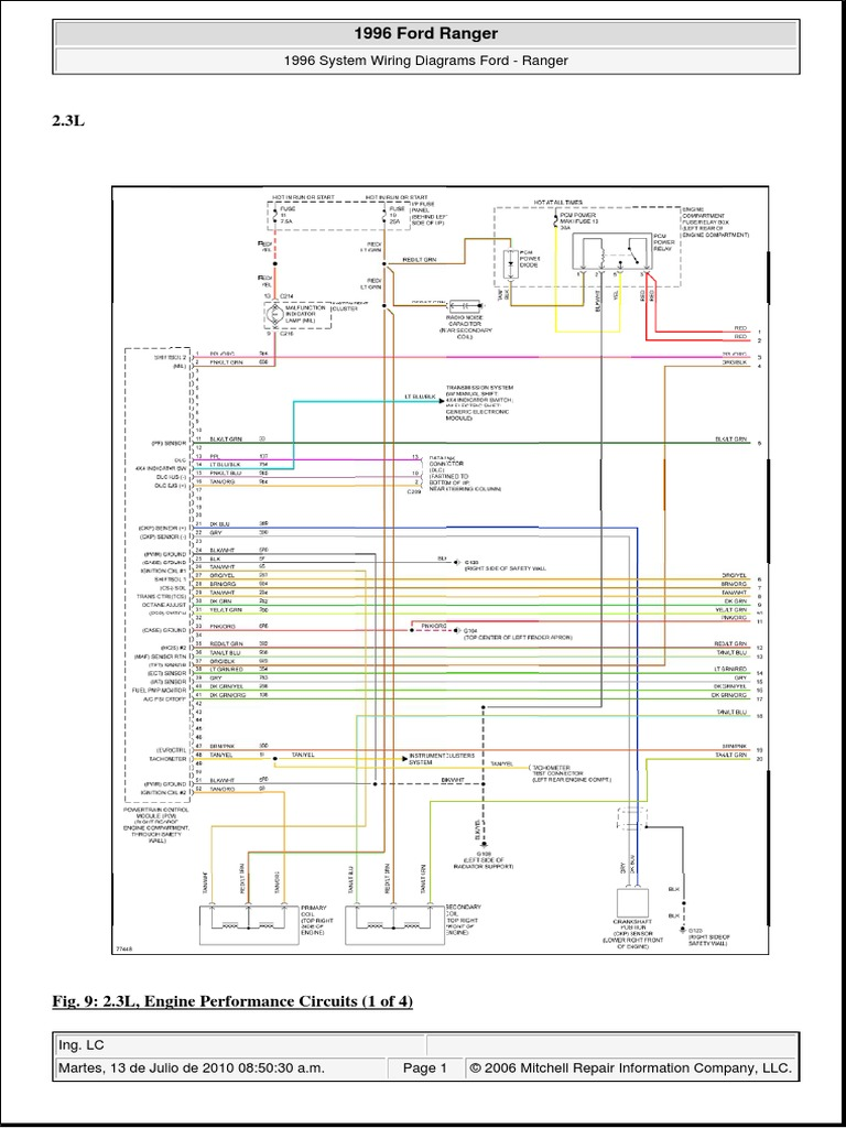 Ford 2 3l Engine Diagram Wiring Library 2001 Escape Rear End 01 V 1996 Ranger 8 Bujias 2000 Radio