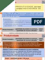 INDICES DE PRODUTIVIDADE - CONSTRUÇÃO CIVIL