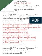 Letra y acordes de Ya Te Olvide - cumbia
