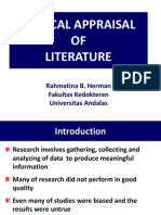 Kp 1.1.3.1 Critical Appraisal of Literature