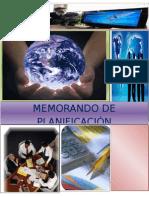 Memorando de Planificacion Manufacturas