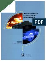 Architecture Climatique Équilibrée