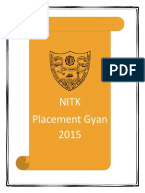 NITK Placement Gyan 2015 | C (Programming Language) | C++