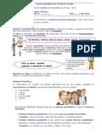 Ficha de Trabalho Sobre Estatistica