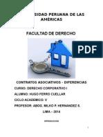 CONTRATOS ASOCIATIVOS - DIFERENCIAS