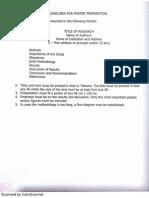 Guidelines for Poster Presentation