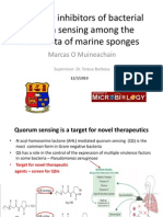 Search for Inhibitors of bacterial quorum sensing among the microbiota of marine sponges (Pres)