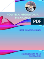 Politica Migratoria Mexicana