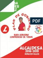 Plan Gobierno Rosalba Cespedes 2016-2019